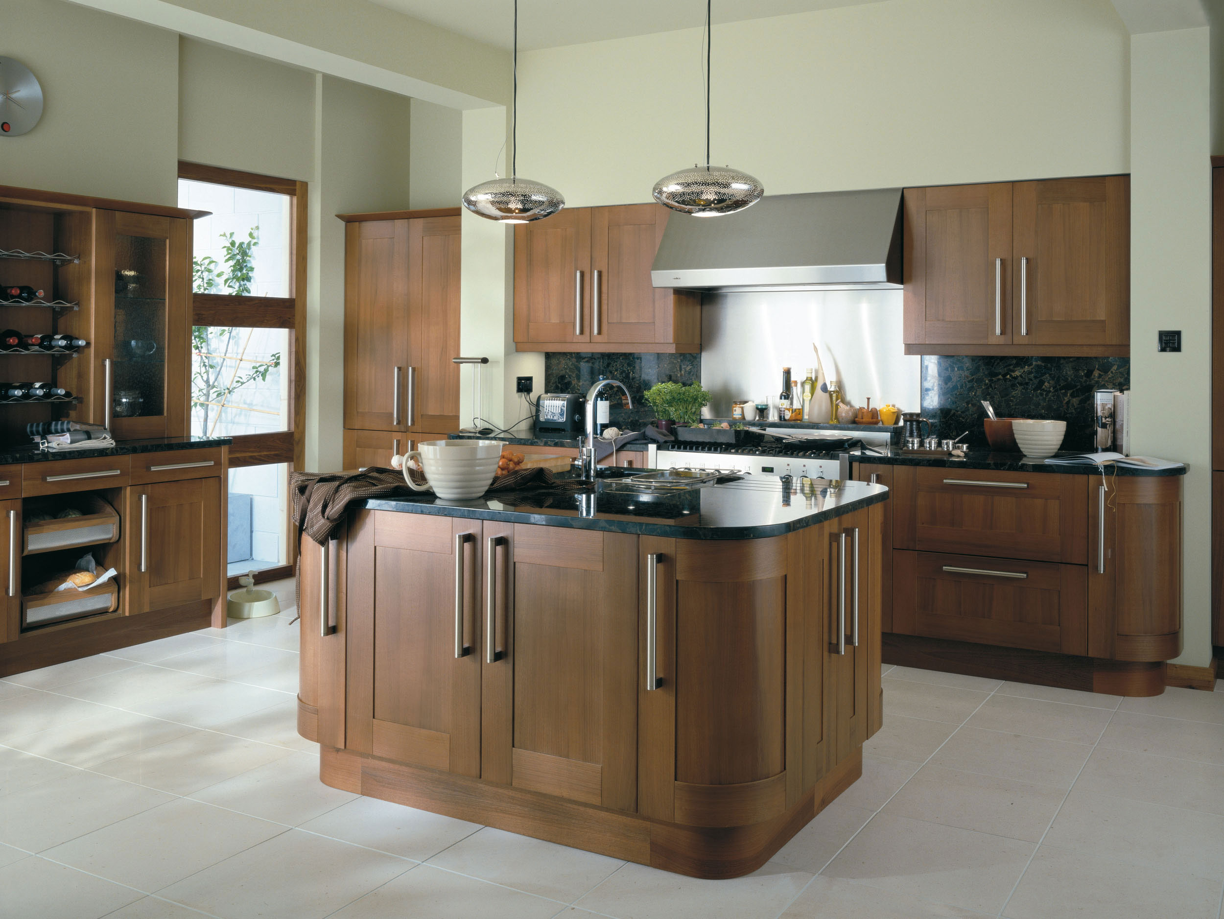 Estro walnut from eaton kitchen designs wolverhampton for Photos kitchen designs