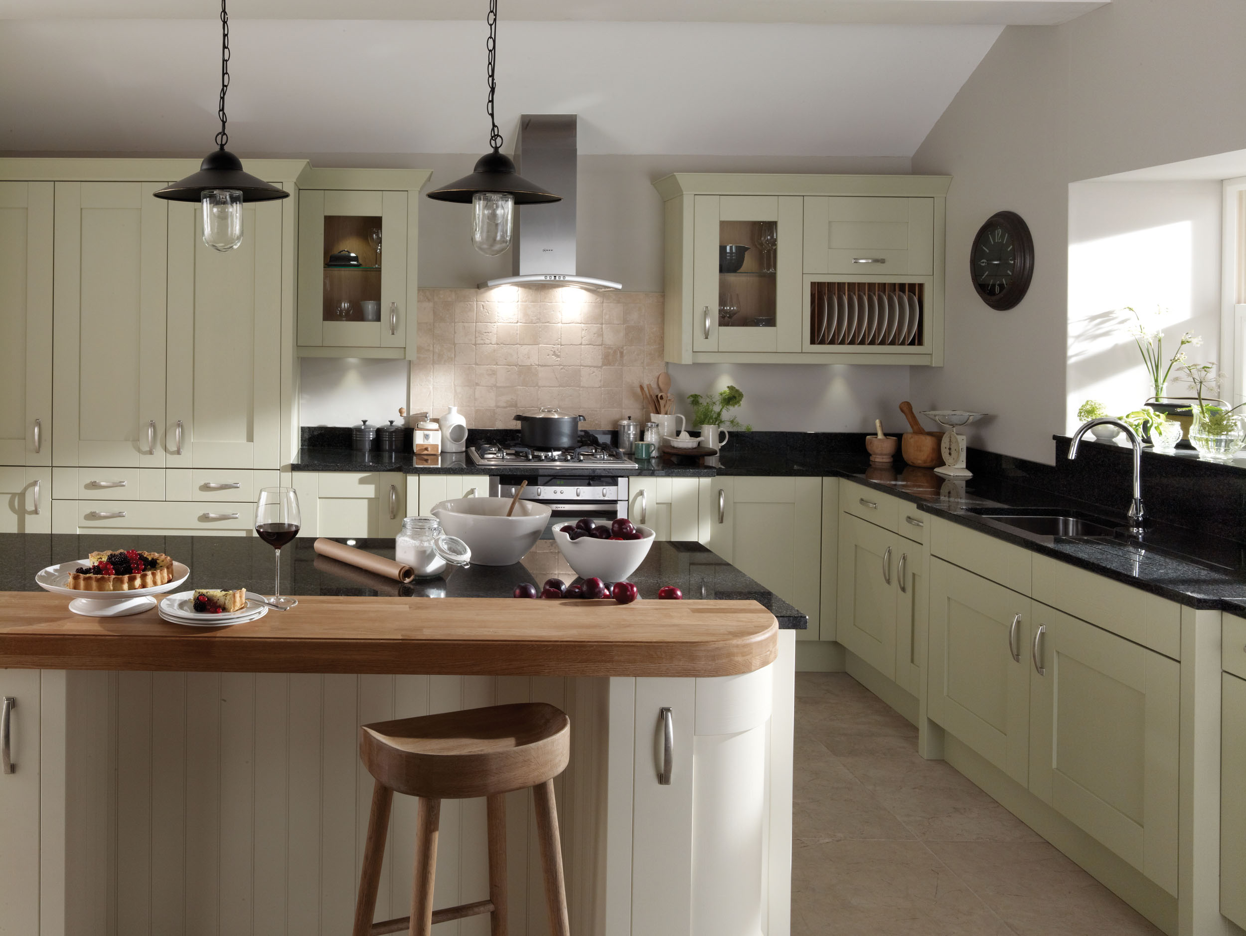 Milbourne alabaster from eaton kitchen designs wolverhampton for Kitchen ideas uk